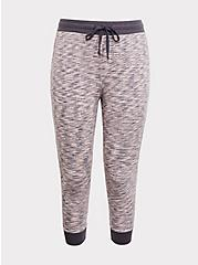Light Grey & Pink Space-Dye Terry Jogger, SPACE DYE, hi-res