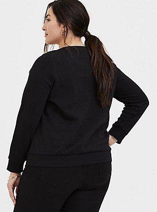 Plus Size Disney Minnie Mouse Embellished Black Sweatshirt, DEEP BLACK, alternate