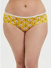 Yellow Daisy Lace Caged Hipster Panty, , alternate