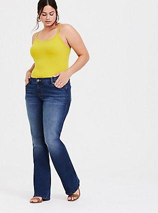 Plus Size Lemon Yellow Scoop Neck Tunic Foxy Cami, JADE CITRUS, alternate