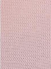 Dusty Pink Waffle Knit Snap Henley Long Sleeve Tee, DUSTY QUARTZ, alternate