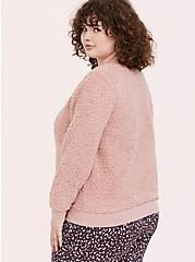 Blush Pink Faux Fur Teddy Pullover, DUSTY QUARTZ, alternate