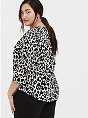 Disney Minnie Mouse & Leopard Challis Button Front Blouse , MULTI, alternate