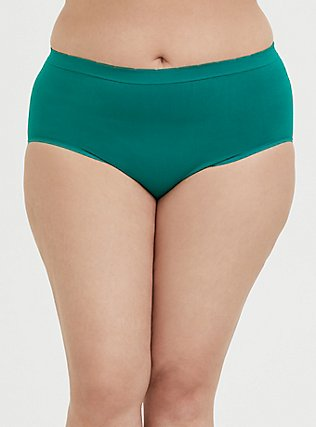 Majestic Unicorn Emerald Green Seamless Brief Panty, CADMIUM GREEN, alternate