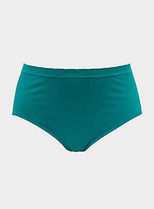 Majestic Unicorn Emerald Green Seamless Brief Panty, CADMIUM GREEN, flat