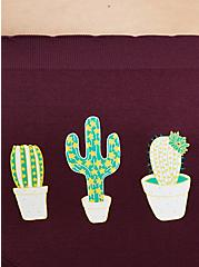 Plus Size Burgundy Cactus Seamless Hipster Panty, HIGHLAND THISTLE, alternate