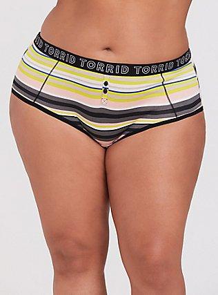 Plus Size Torrid Logo Multi Stripe Cotton Cheeky Panty, , hi-res