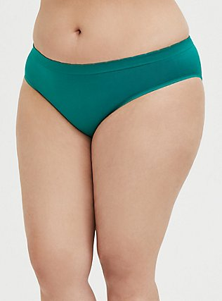 Meh Unicorn Emerald Green Seamless Hipster Panty, CADMIUM GREEN, alternate