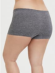 Heather Grey Frenchie Seamless Boyshort Panty, HEATHER GREY, alternate