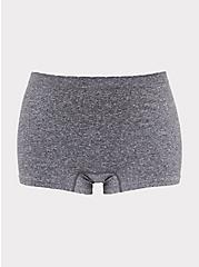 Heather Grey Frenchie Seamless Boyshort Panty, HEATHER GREY, hi-res