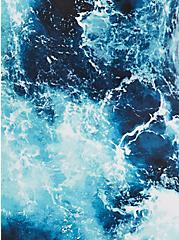 Blue Ocean Lace Back Wireless One-Piece Swimsuit, MULTI, alternate