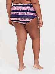 Plus Size Pink & Purple Tie-Dye Medallion High Waist Swim Bottom, MULTI, alternate