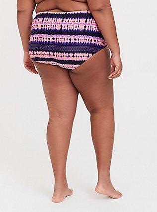 Pink & Purple Tie-Dye Medallion High Waist Swim Bottom, MULTI, alternate