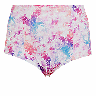 Multicolor Tie-Dye High Waist Swim Bottom