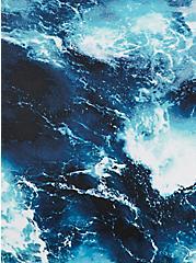 Blue Ocean High Waist Ruched Swim Bottom, MULTI, alternate