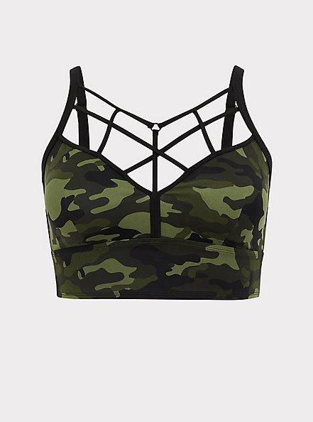 Camo Wireless Lattice Bikini Top, MULTI, hi-res