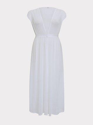 Ivory Mesh Maxi Dress Swim Cover Up , IVORY, flat