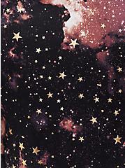 Black Celestial Long Sleeve Layering Swim Shirt, MULTI, alternate