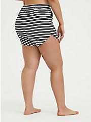 Black & White Stripe Swim Board Short, MULTI, alternate