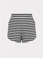 Plus Size Black & White Stripe Swim Board Short, MULTI, hi-res