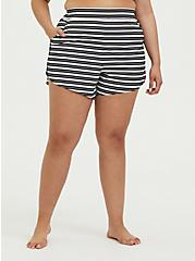 Black & White Stripe Swim Board Short, MULTI, hi-res