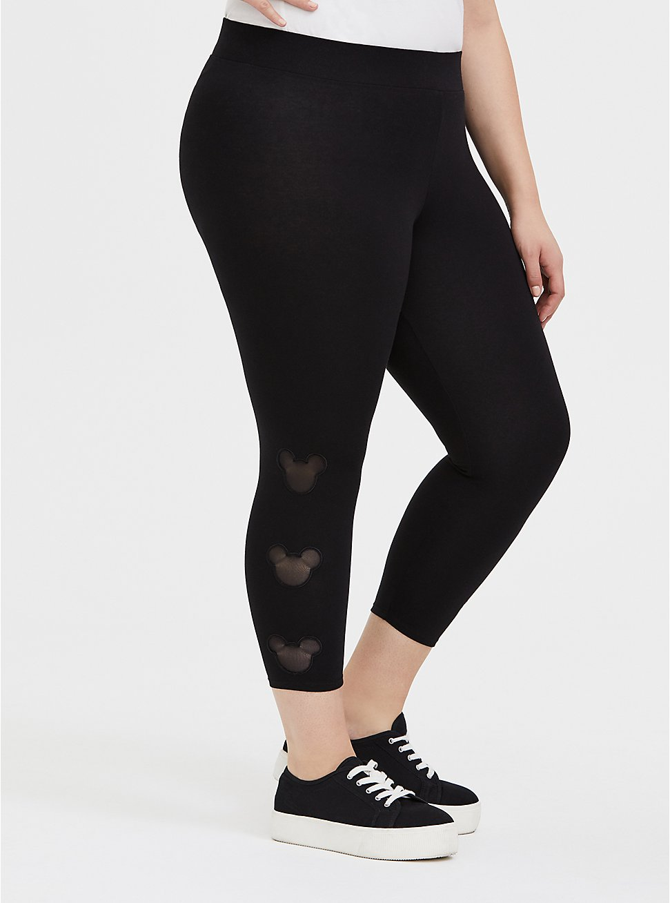 Disney Mickey Mouse /& Minnie Mouse Mirrored Leggings Plus Size
