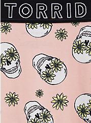 Plus Size Torrid Logo Peach Floral Skull Cotton Cheeky Panty, DAISY SKULLS, alternate