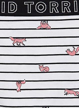 Torrid Logo Stripe Fox Cotton Cheeky Panty, FOX JUMP, alternate