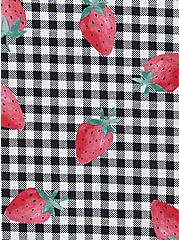 Torrid Logo Gingham Strawberry Cotton Boyshort Panty, SPRINGTIME BERRIES, alternate