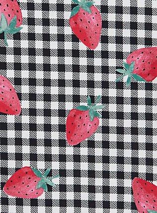 Plus Size Torrid Logo Gingham Strawberry Cotton Boyshort Panty, SPRINGTIME BERRIES, alternate
