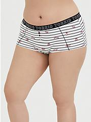 Plus Size Torrid Logo Stripe Fox Cotton Boyshort Panty, FOX JUMP, hi-res
