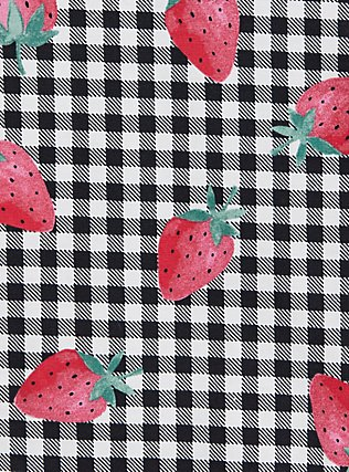 Plus Size Torrid Logo Gingham Strawberry Cotton Brief Panty, SPRINGTIME BERRIES, alternate