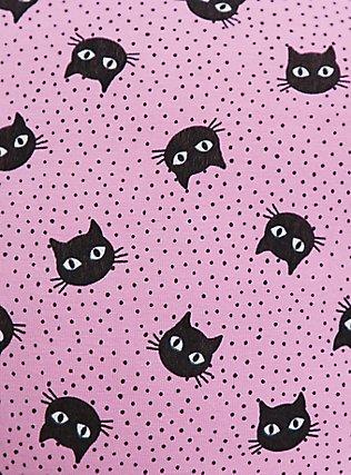 Torrid Logo Pink Cat Cotton Boyshort Panty, CAT DOT, alternate