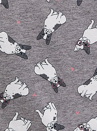 Plus Size Torrid Logo Grey Frenchie Cotton Brief Panty, LOVE PUPS, alternate