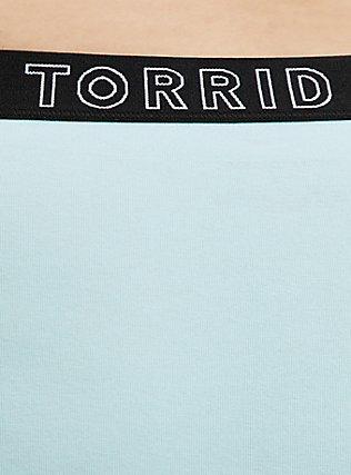 Torrid Logo Aqua Cotton Cheeky Panty, CLEARWATER, alternate