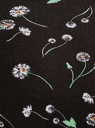 Black Dandelion & White Wide Lace Cotton High Waist Panty, DANDELION FLORAL, alternate