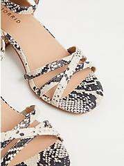 Plus Size Snakeskin Print Faux Leather Strappy Block Heel (WW), ANIMAL, alternate