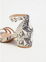Snakeskin Print Faux Leather Strappy Block Heel (WW), ANIMAL, alternate