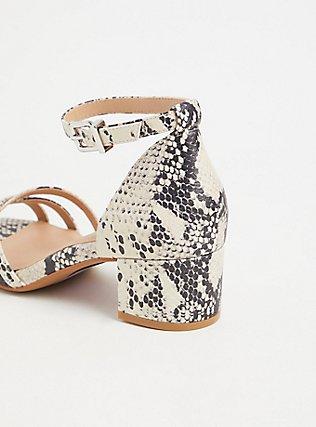 Snakeskin Print Faux Leather Strappy Block Heel (WW), ANIMAL, alternate