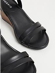 Black Faux Leather Midi Wedge (WW), BLACK, alternate
