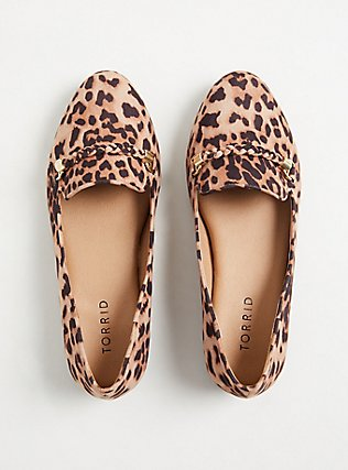 Leopard Faux Suede Braided Loafer (WW), ANIMAL, alternate