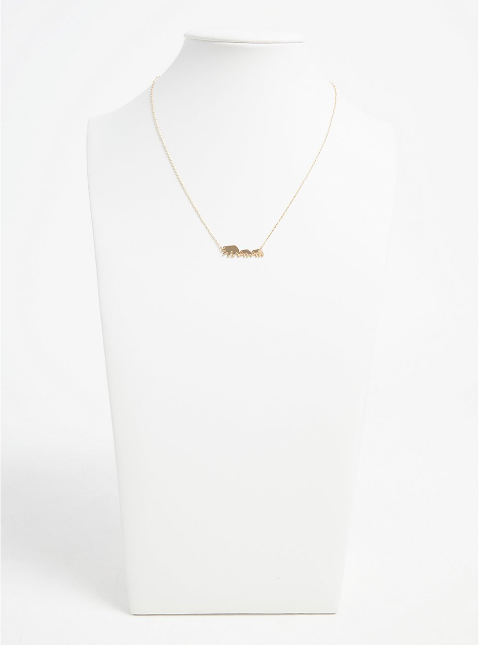 Gold-Tone Mama Bear Delicate Necklace, , hi-res