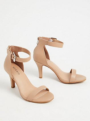 Nude Faux Leather Stiletto Heel (WW), NUDE, alternate