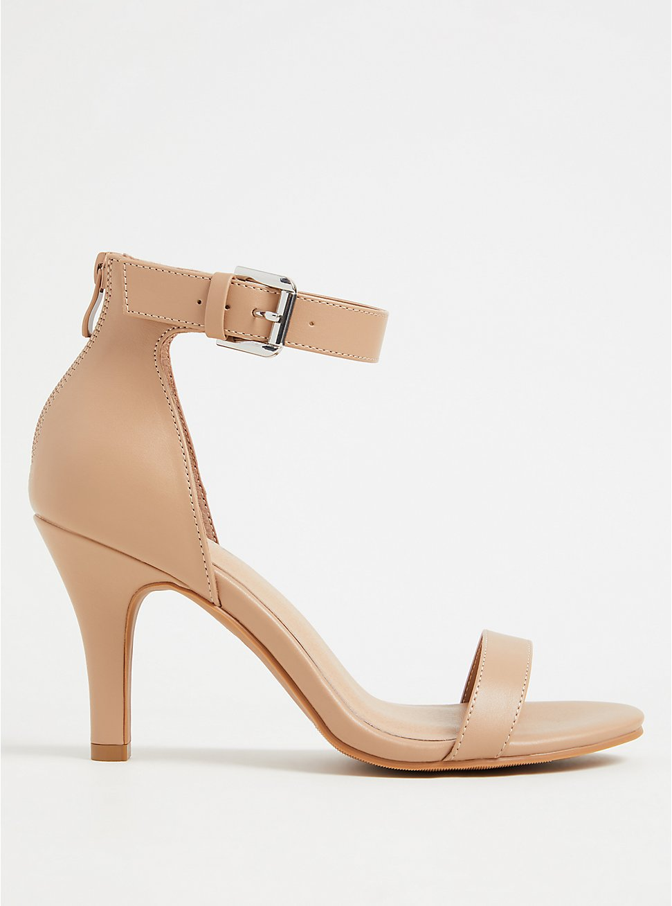 Beige Faux Leather Stiletto Heel (WW), , hi-res
