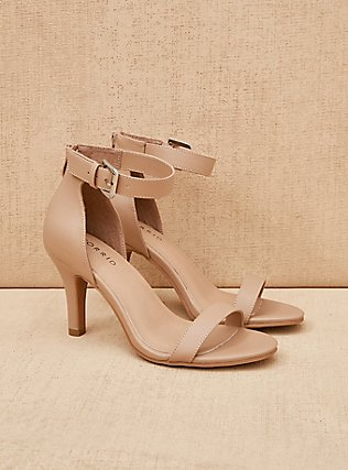 Nude Faux Leather Stiletto Heel (WW), NUDE, pdped