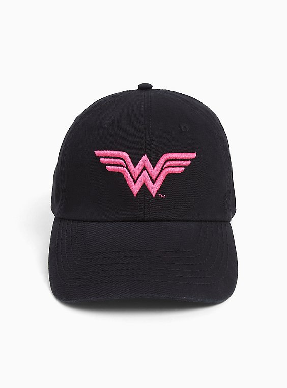 Plus Size Breast Cancer Awareness - Wonder Woman Black Cap, , hi-res