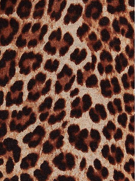 Button Front Cardigan - Cotton Leopard, LEOPARD, alternate