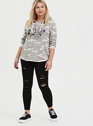 Plus Size Disney Mickey & Friends Camo Hoodie, CAMO, alternate