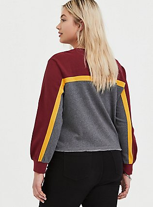 Plus Size Harry Potter Ollivanders Grey Fleece Crop Sweatshirt, MEDIUM HEATHER GREY, alternate