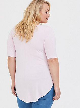 Super Soft Lilac Pink Favorite Tunic Tee, LILAC SNOW, alternate